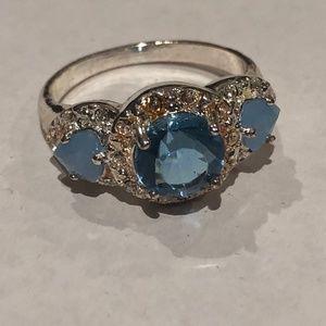 Avon Legacy Riches Ring Blue Size 6